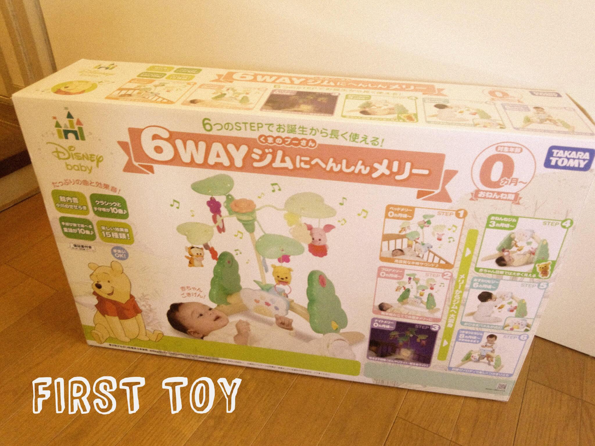 チビヒメに初めてのおもちゃ!6WAYジムにへんしんメリー