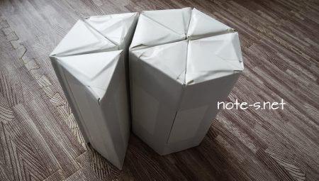 牛乳パックの踏み台(イス・スツール)作り方~六角形背もたれなしタイプ