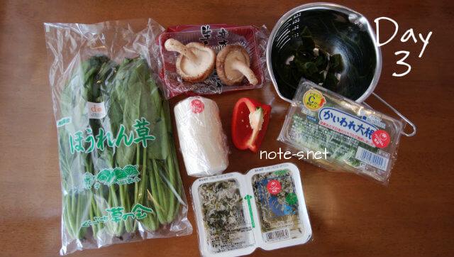 シャキッとおいしい野沢菜しらすチャーハン+ほっこりおいしいネギ味噌大根+茎わかめとしいたけの懐かし炒め煮
