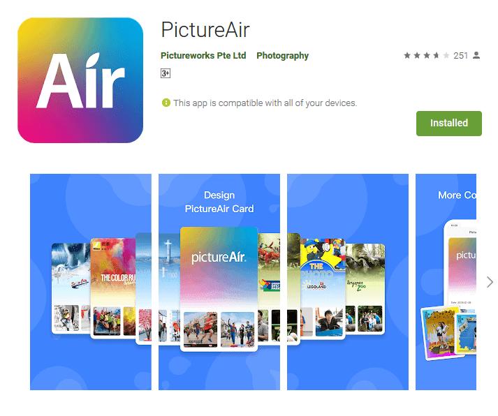 PictureAir アプリ